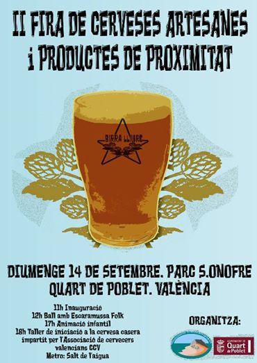 II Fira de Cerveses Artesanes i Productes de proximitat. Quart de Poblet
