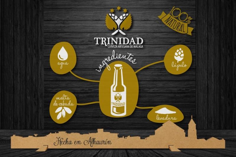 Cerveza Trinidad materias