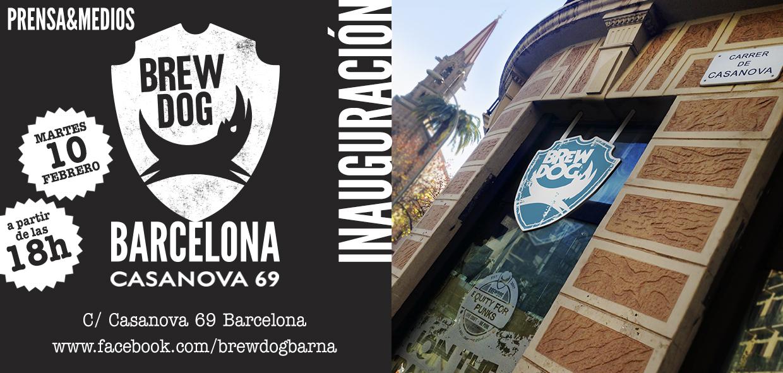 Invitación inauguración BrewDog Bar Barcelona (prensa y medios)