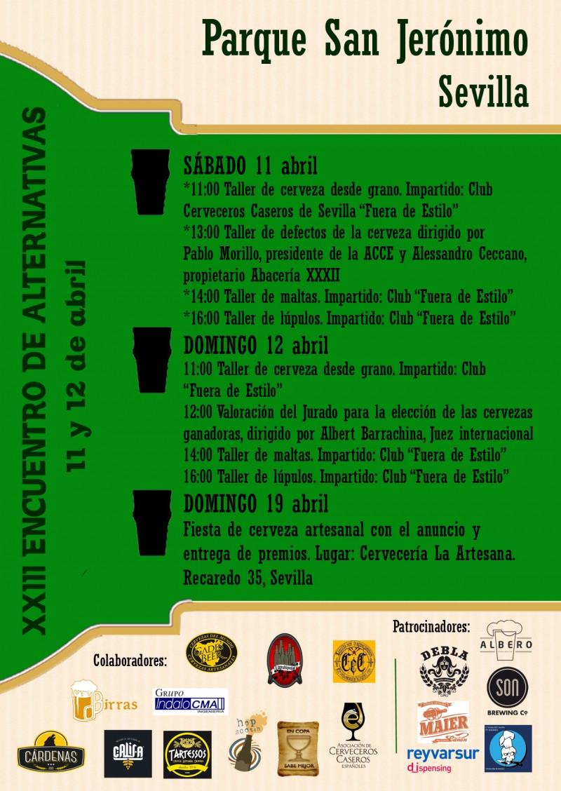 II Concurso de cerveceros caseros de Andalucía - Encuentro de alternativas del Parque San Jeronimo