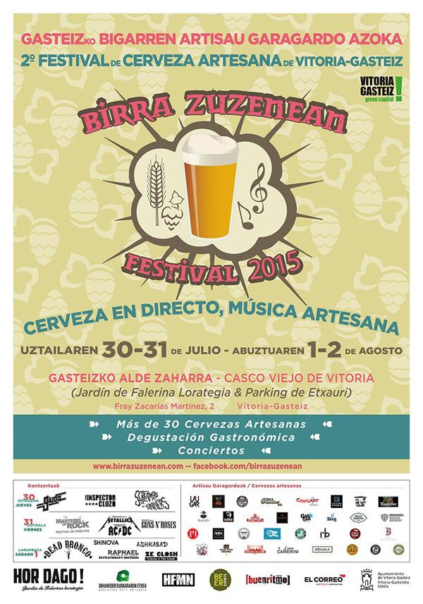 Birra Zuzenean 2015 - 2º Festival de Cerveza Artesana de Vitoria-Gasteiz