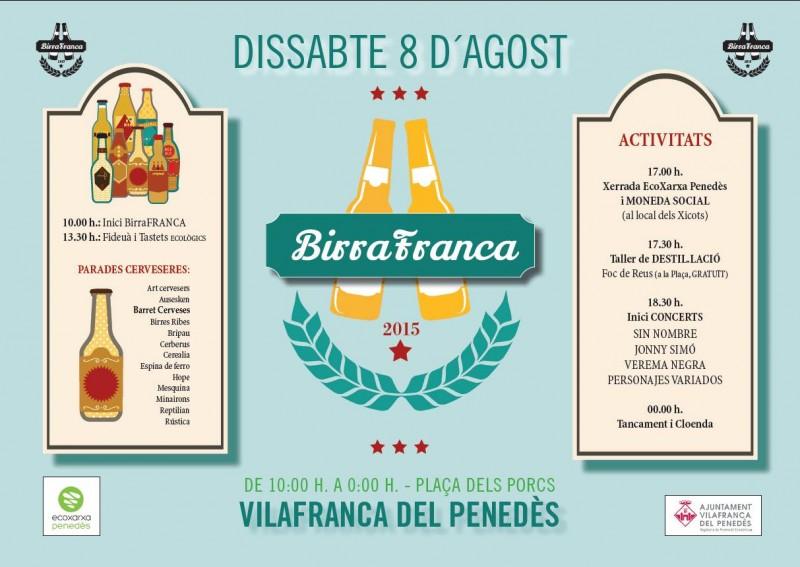 Birrafranca 2015 fira de la cervesa artesana catalana de Vilafranca