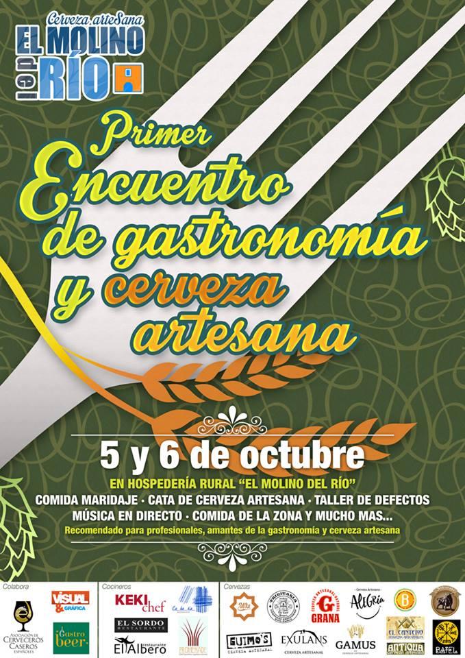 Primer encuentro de Gastronomía y Cerveza Artesana el Molino del Río.