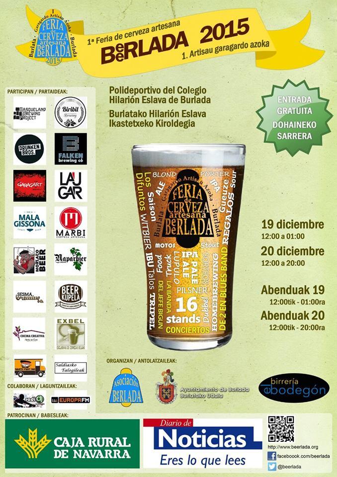 Beerlada - Primera feria de cerveza artesana en Burlada.
