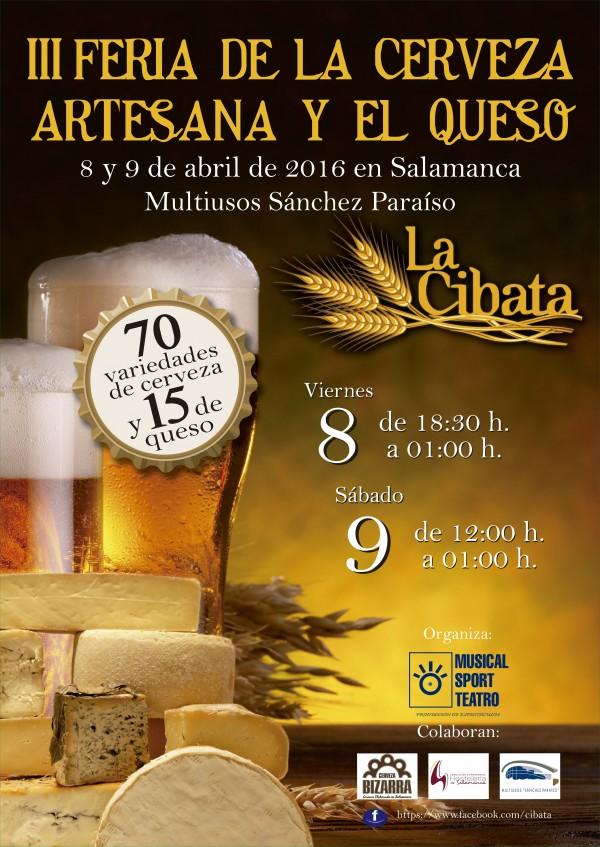 """3ª Feria de la Cerveza y el Queso Artesanos en Salamanca """"La Cibata"""""""