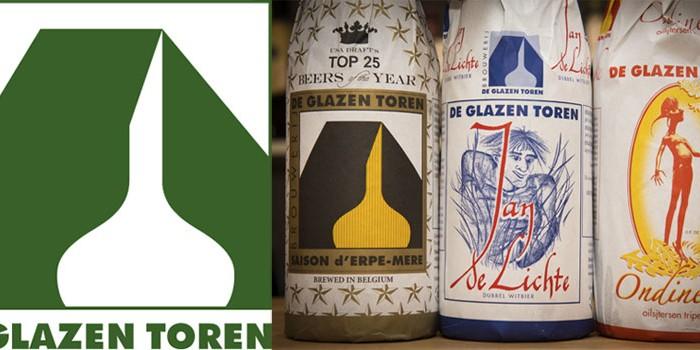 Logotipo y envoltorios De Glazen Toren